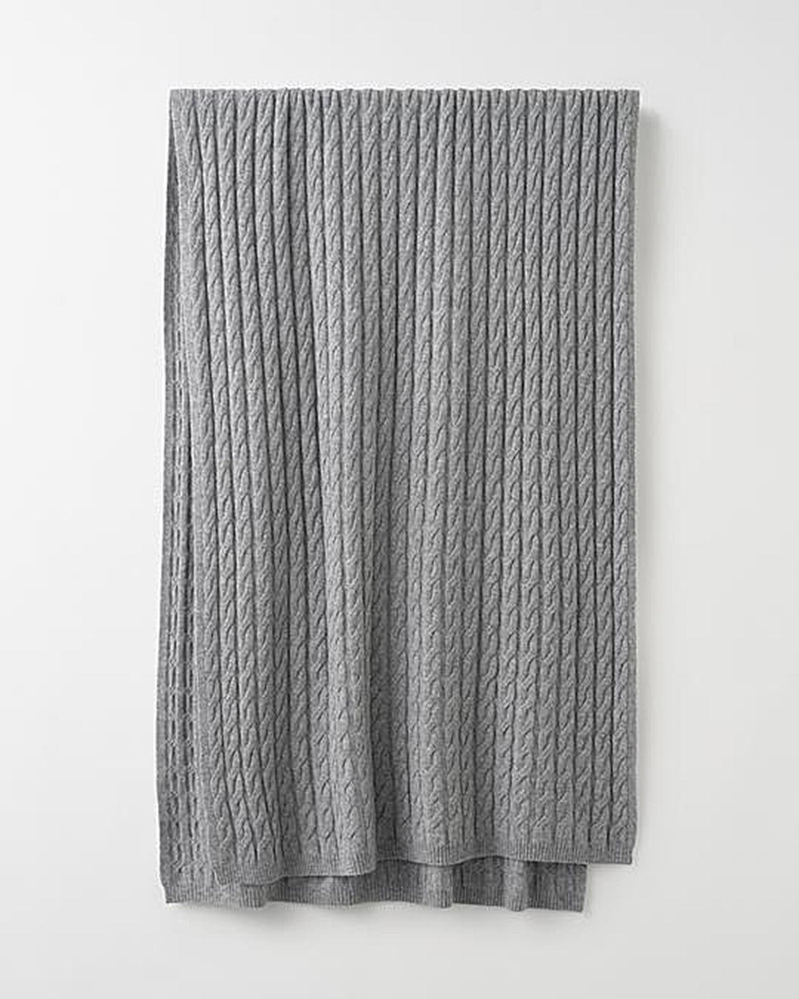 Totême Cashmerehalduk Cable Knit grå OS
