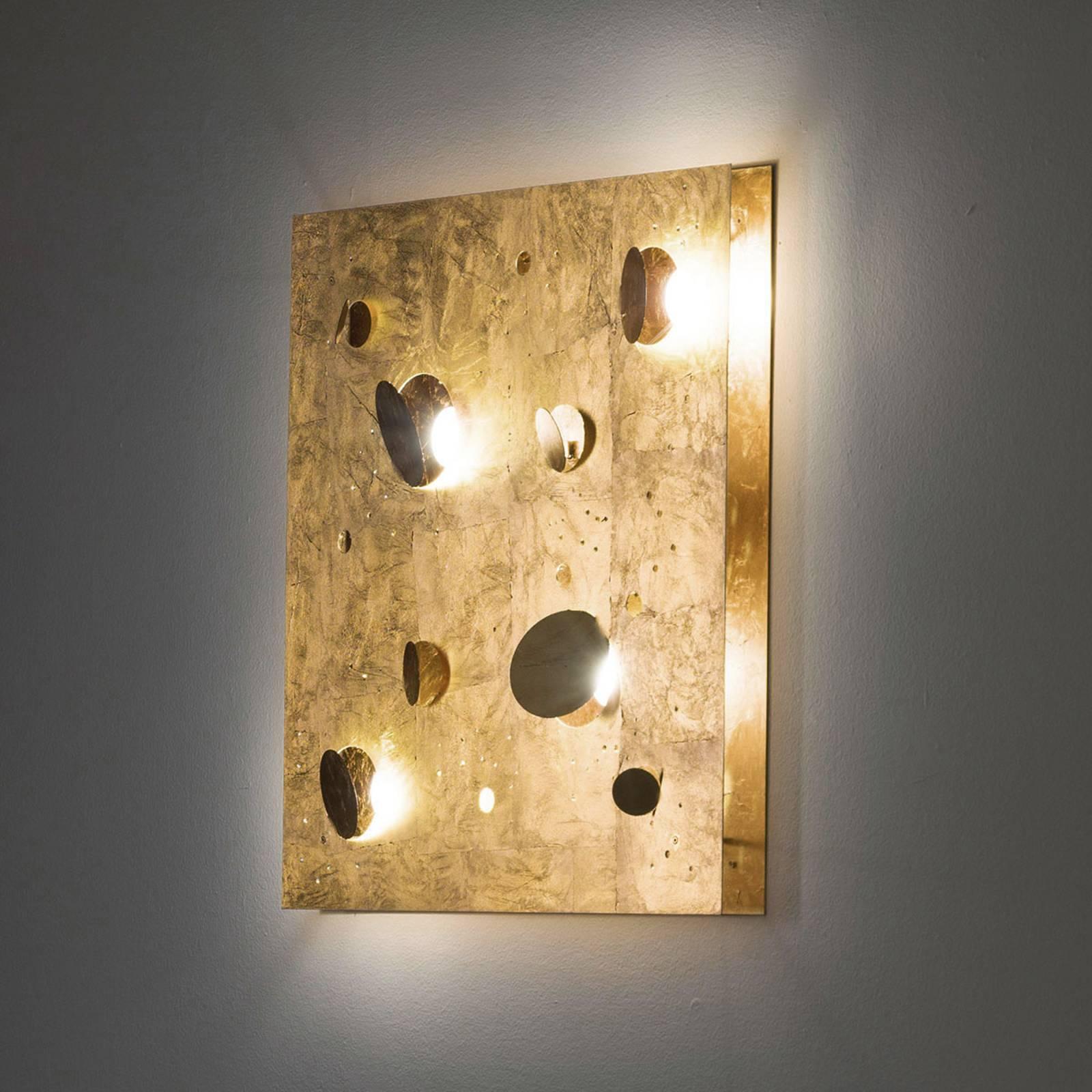 Knikerboker Buchi -seinälamppu 60x60cm lehtikulta
