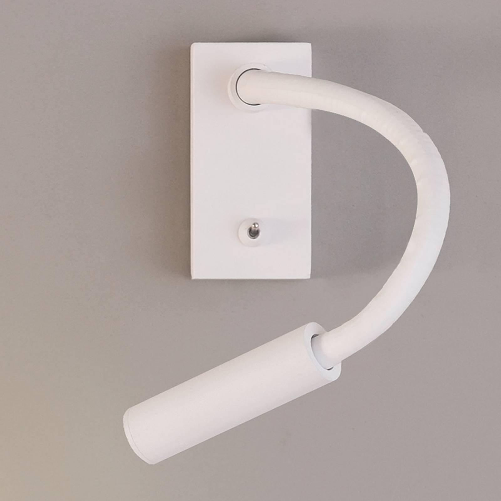 Bøyelig LED-veggleselampe Cio med bryter