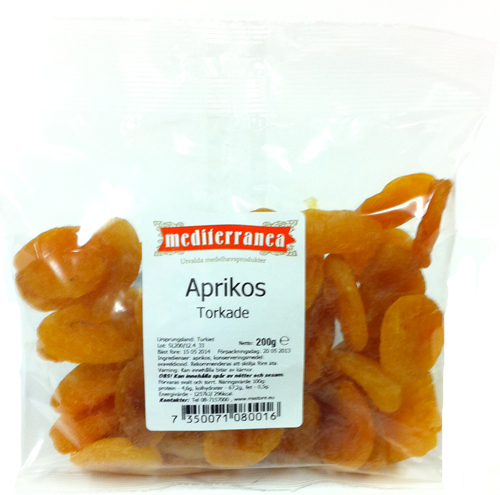 Torkade aprikoser - 80% rabatt