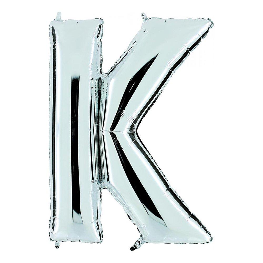 Bokstavsballong Silver - Bokstav K