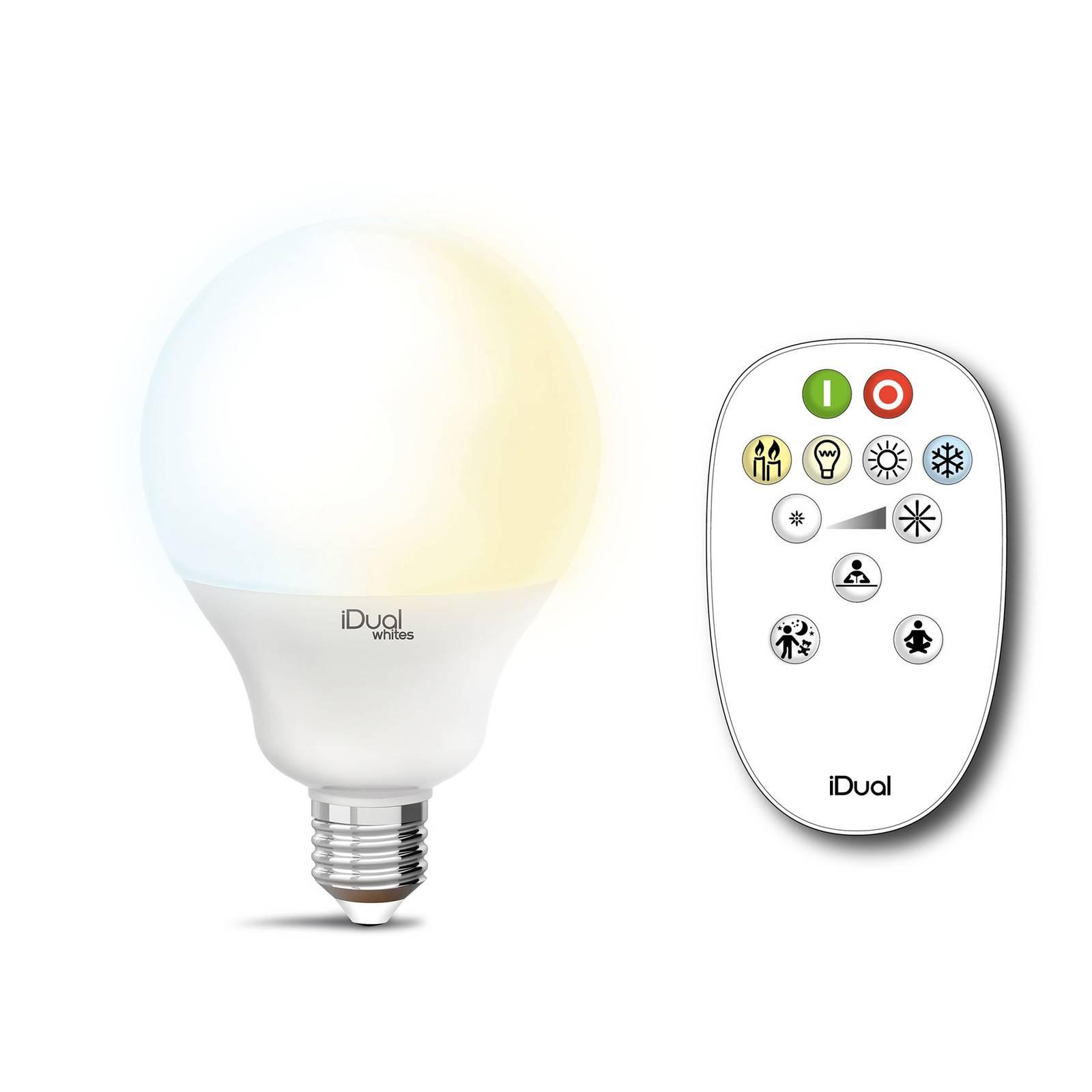 iDual Whites Globe E27 G100 12,5 W, kaukosäädin