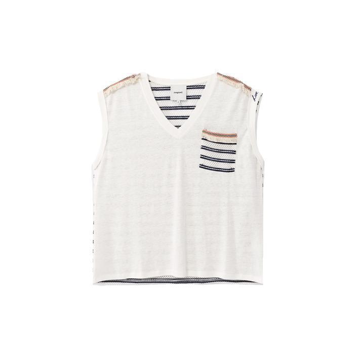 Desigual Women's T-Shirt White 173087 - white M