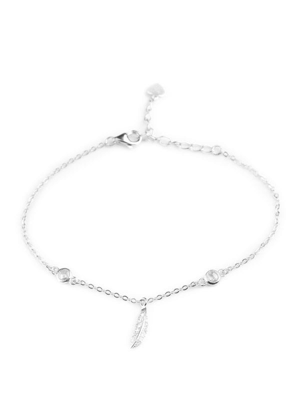 Klockiasmycket Silver Armband Feather BDZ0132