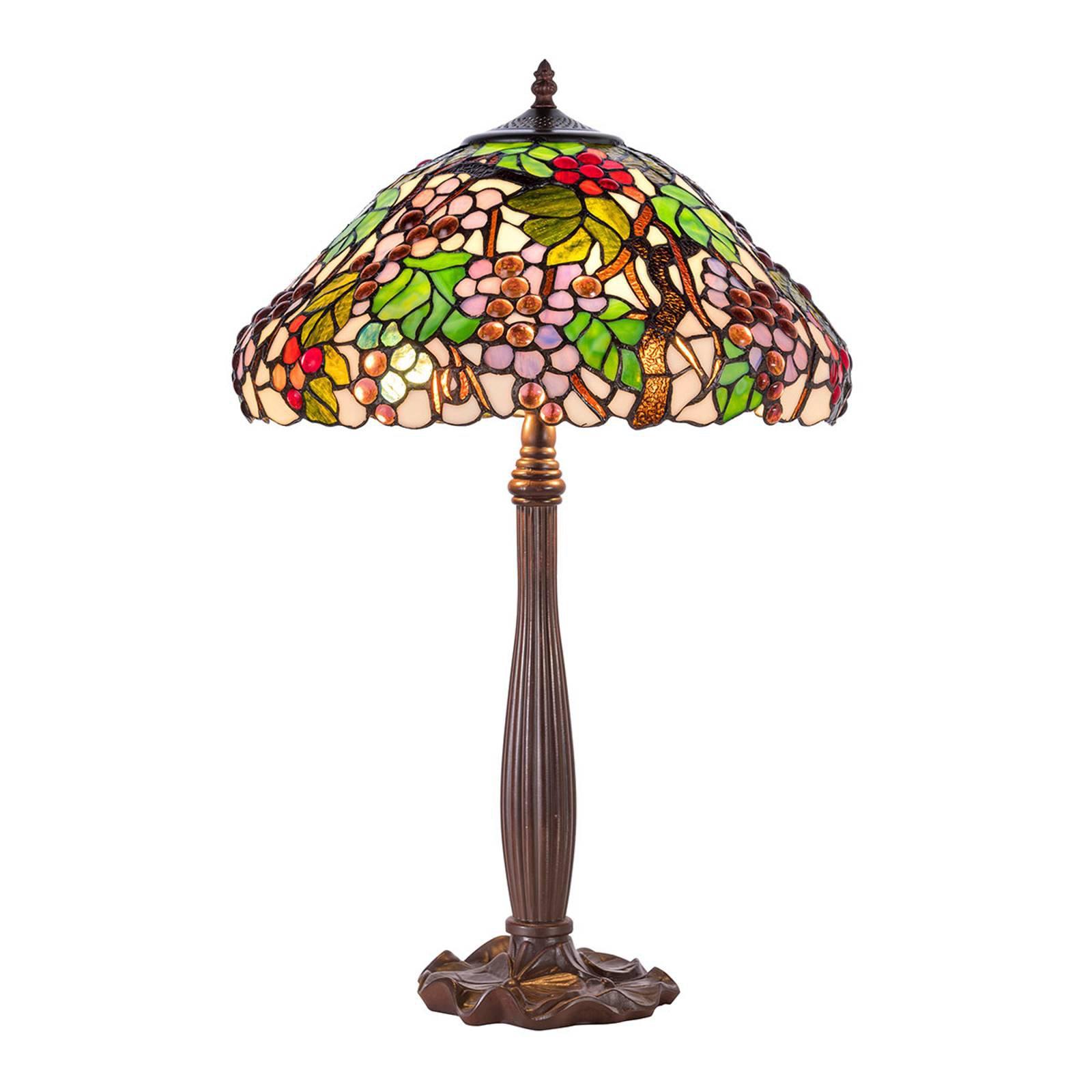 Bordlampe KT9810+P927 i Tiffany-stil
