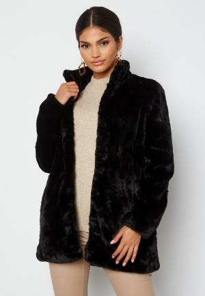 VERO MODA Thea 3/4 Faux Fur Jacket Black S
