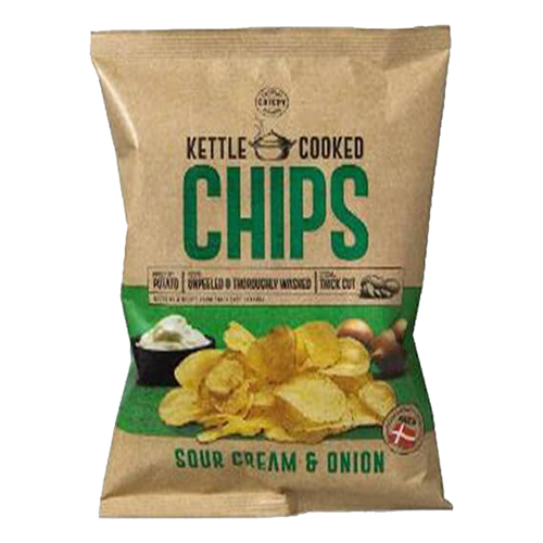 Kettle Cooked Sourcream & Onion Chips 150g