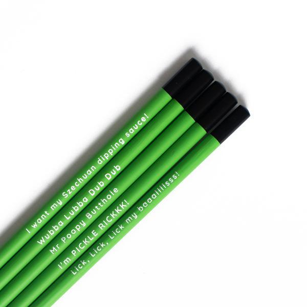 Rick and Morty Pencil Set