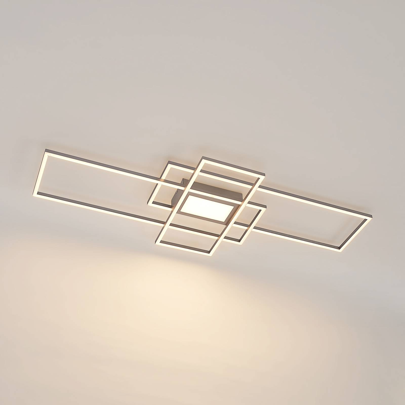 Lindby Caitlin -LED-kattovalaisin, nikkeli
