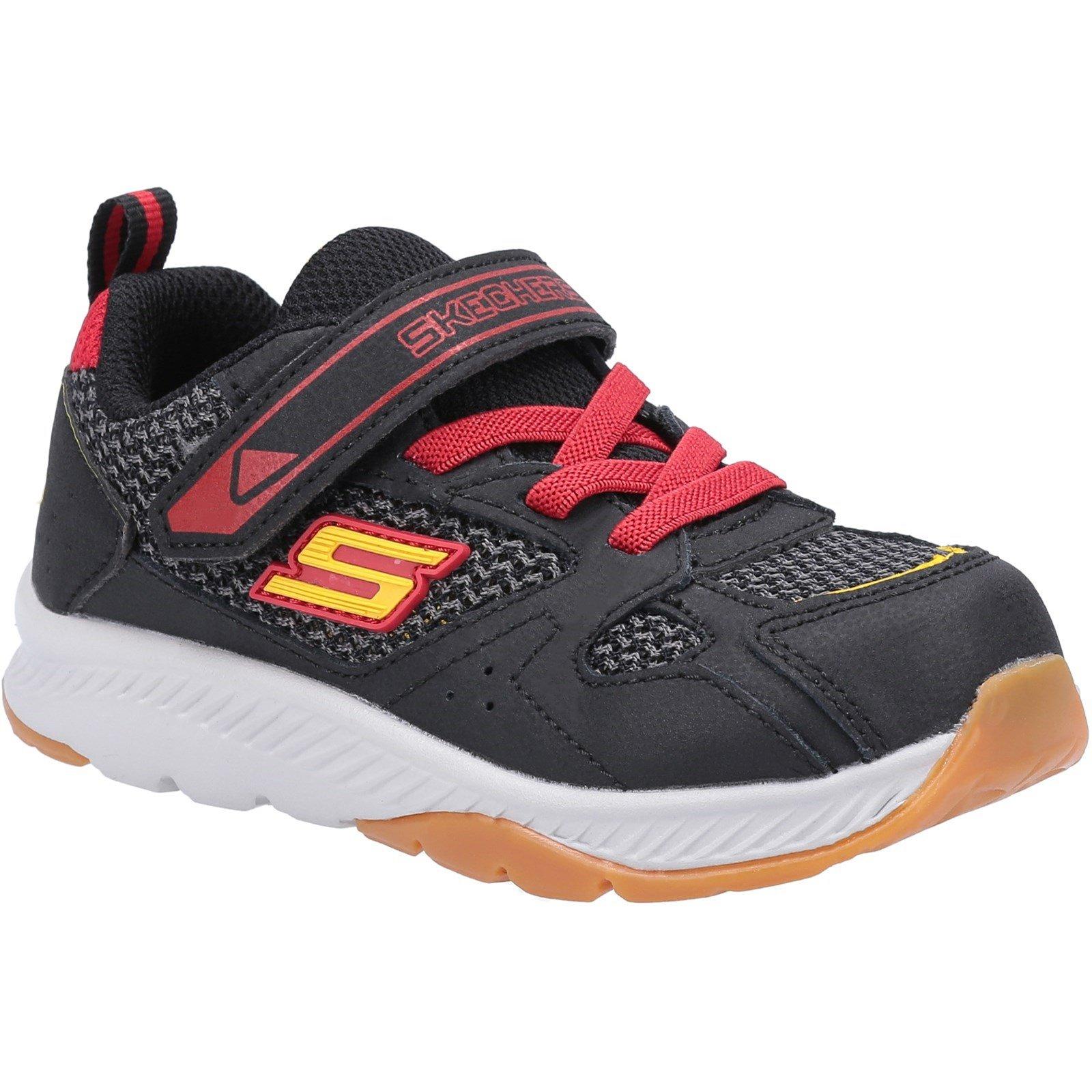Skechers Kid's Comfy Grip Trainer Multicolor 30424 - Black/Red 8
