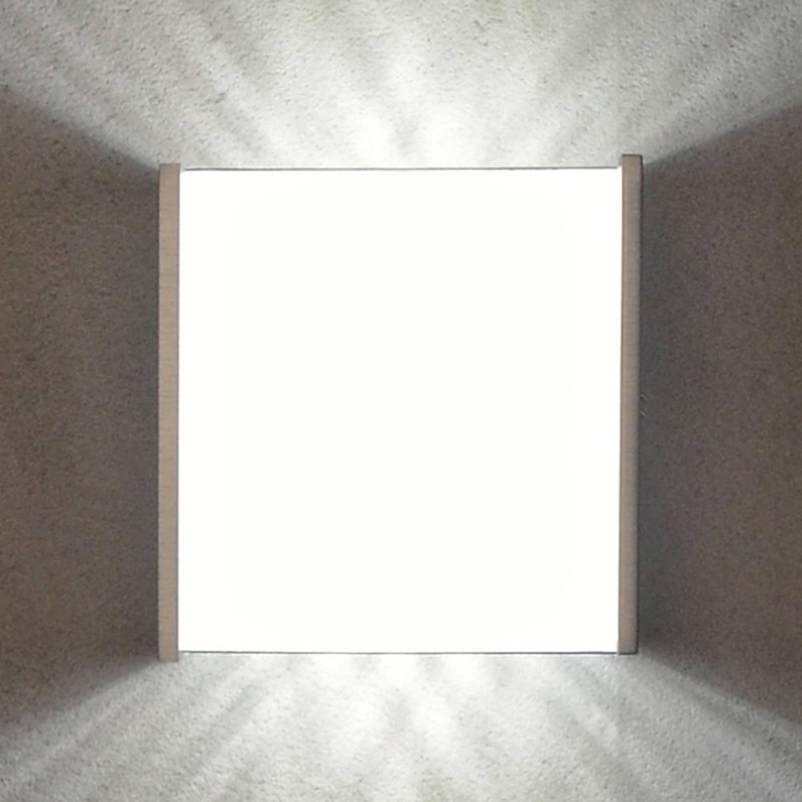 Casablanca Box LED-vegglampe 10,5 cm alu