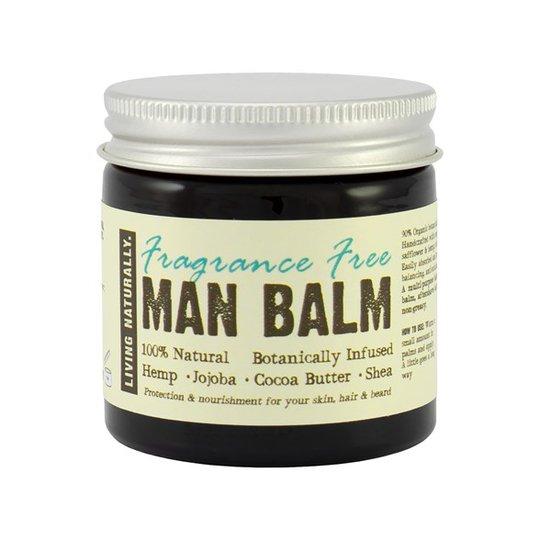 Living Naturally Fragrance Free Man Balm, 60 g
