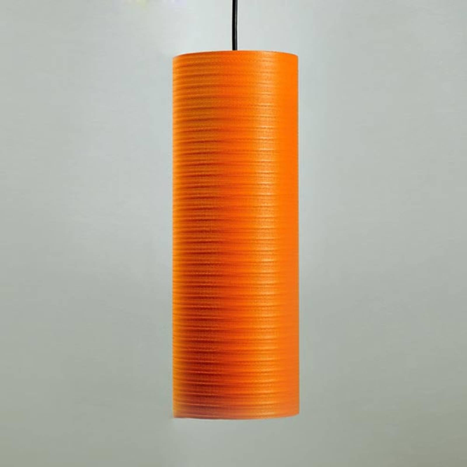 Tube pendellampe, 30 cm, oransje