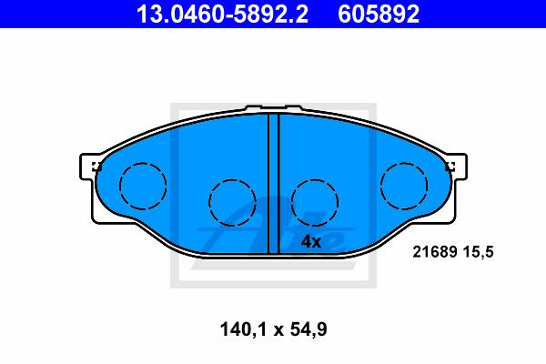 Jarrupalasarja, levyjarru ATE 13.0460-5892.2