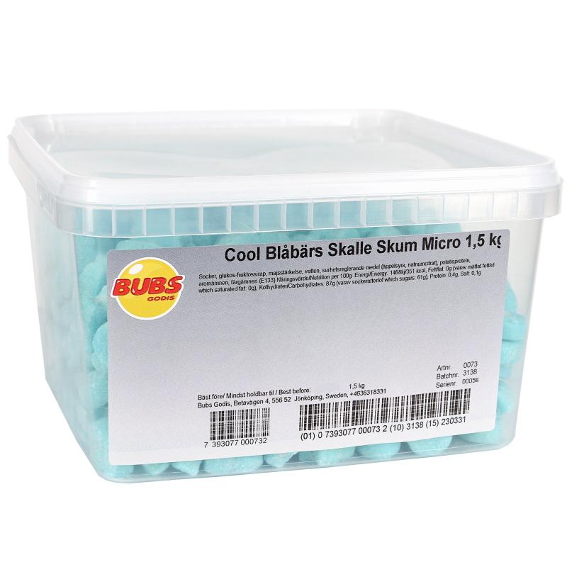 Cool Blåbär Skalle Skum Micro - 20% rabatt