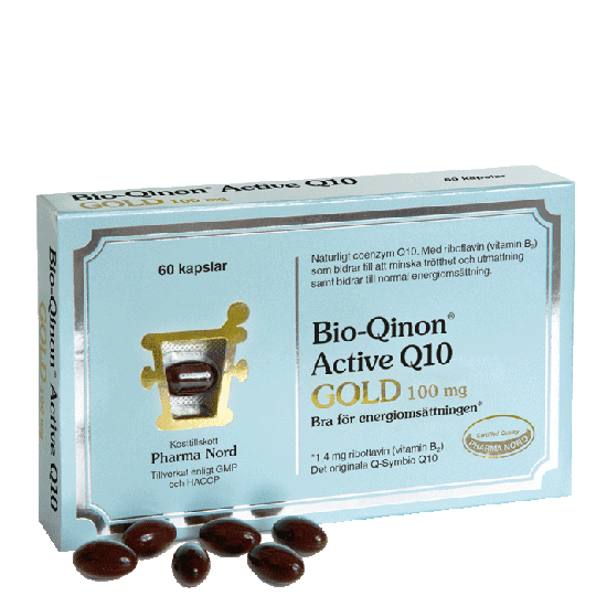 Bio-Qinon Active Q10 Gold 100 mg, 60 kapslar