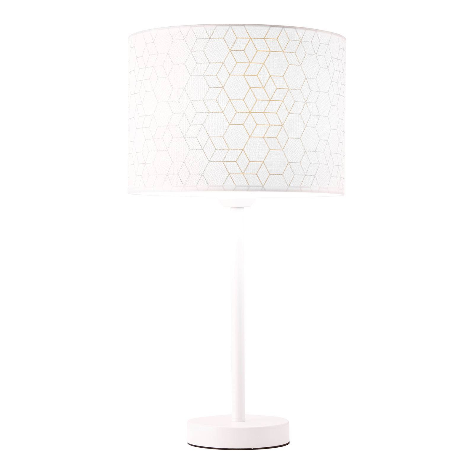 Bordlampe Galance, hvit med metallfot