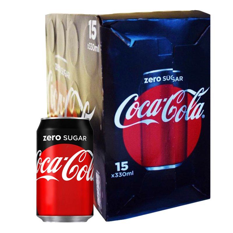 Läsk Coca Cola Zero 15 x 330ml - 34% rabatt