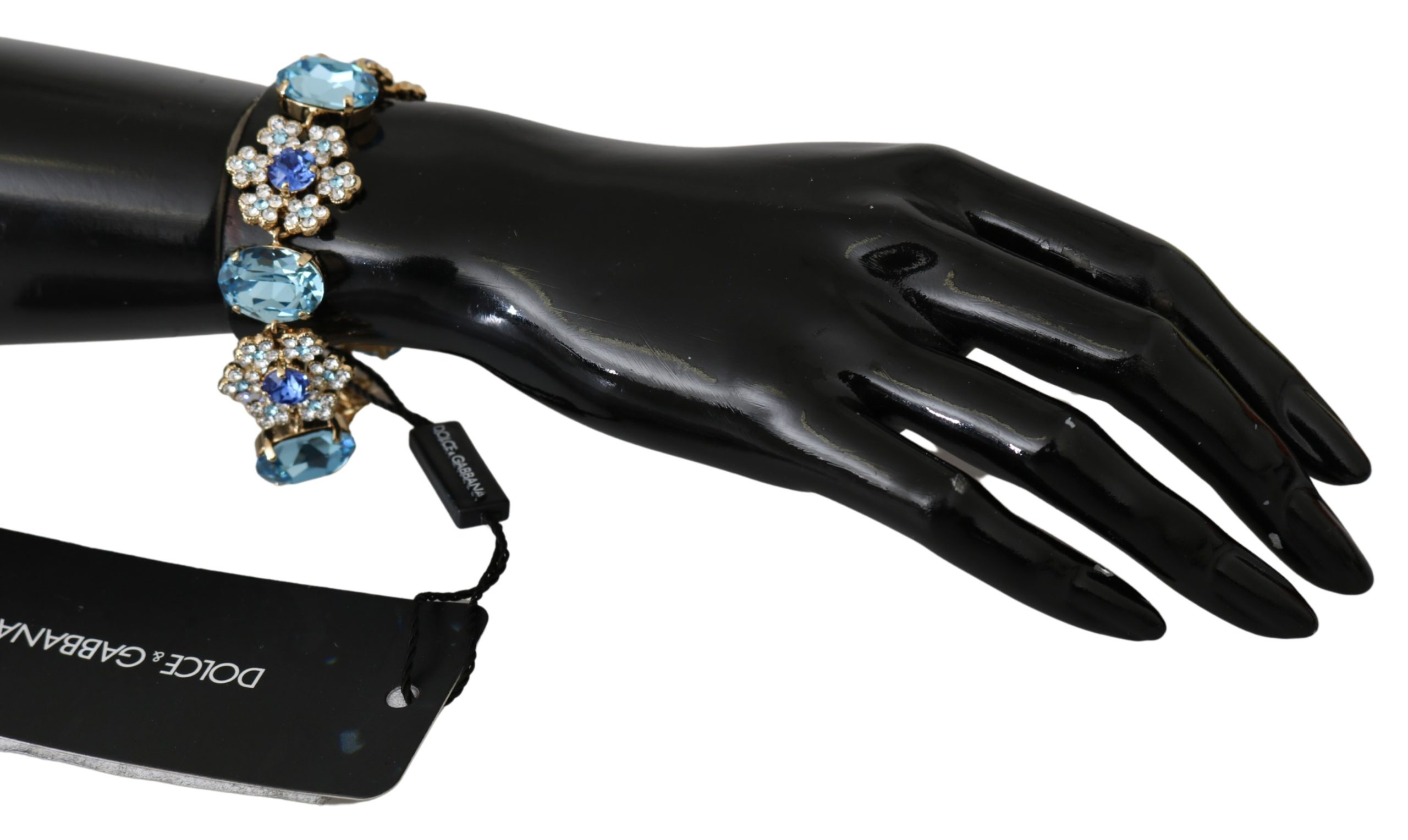 Dolce & Gabbana Women's Crystal Snowflake Charms Bracelet Gold SMY100140