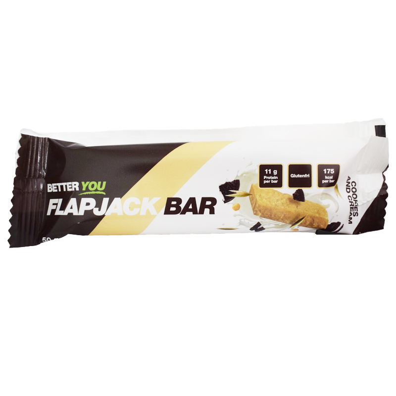 "Proteinbar Flapjack ""Cookies & Cream"" 50g - 50% rabatt"