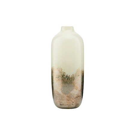 Vase Earth Beige/Metallic 19 cm