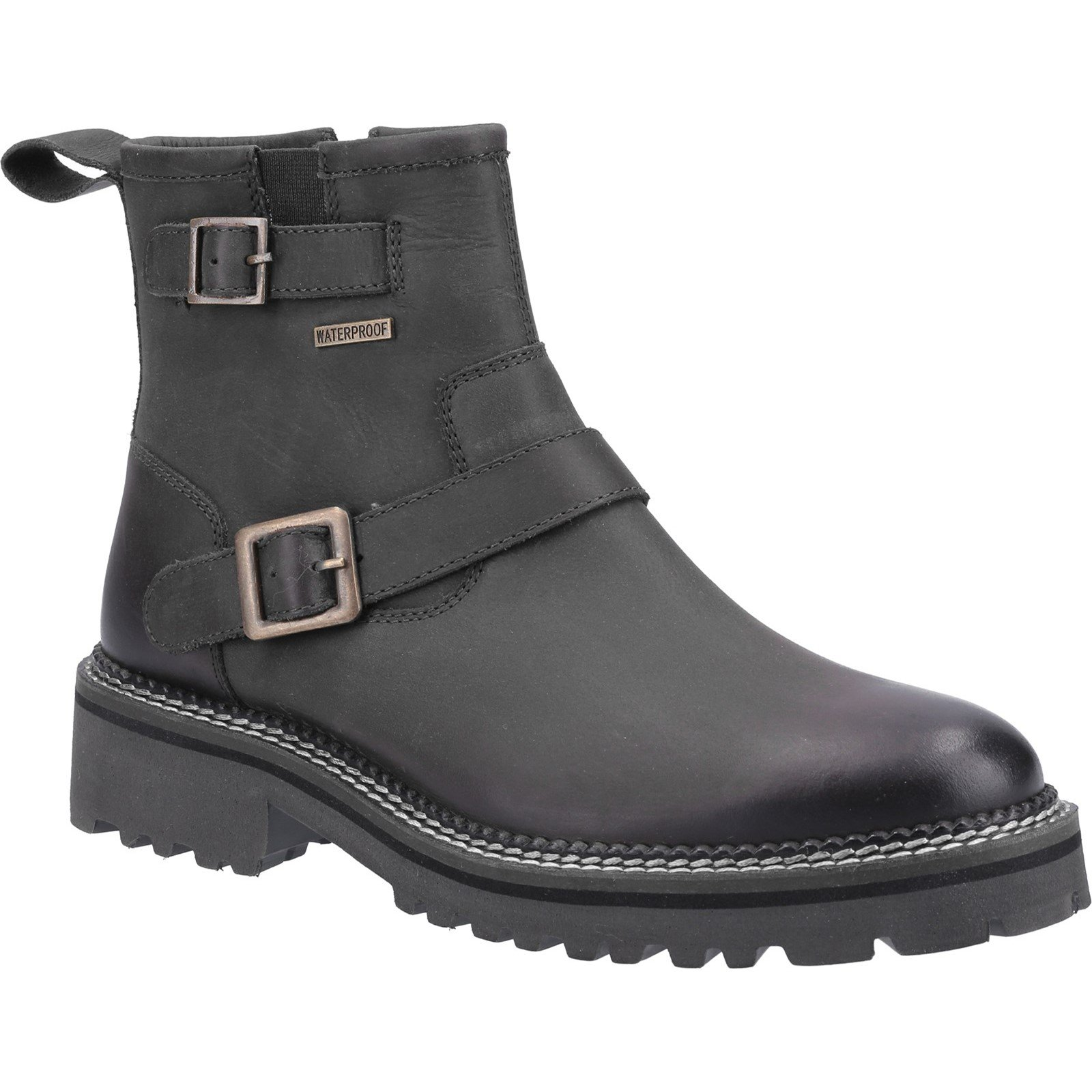 Cotswold Women's Combe Zip Ankle Boot Black 32975 - Black 3