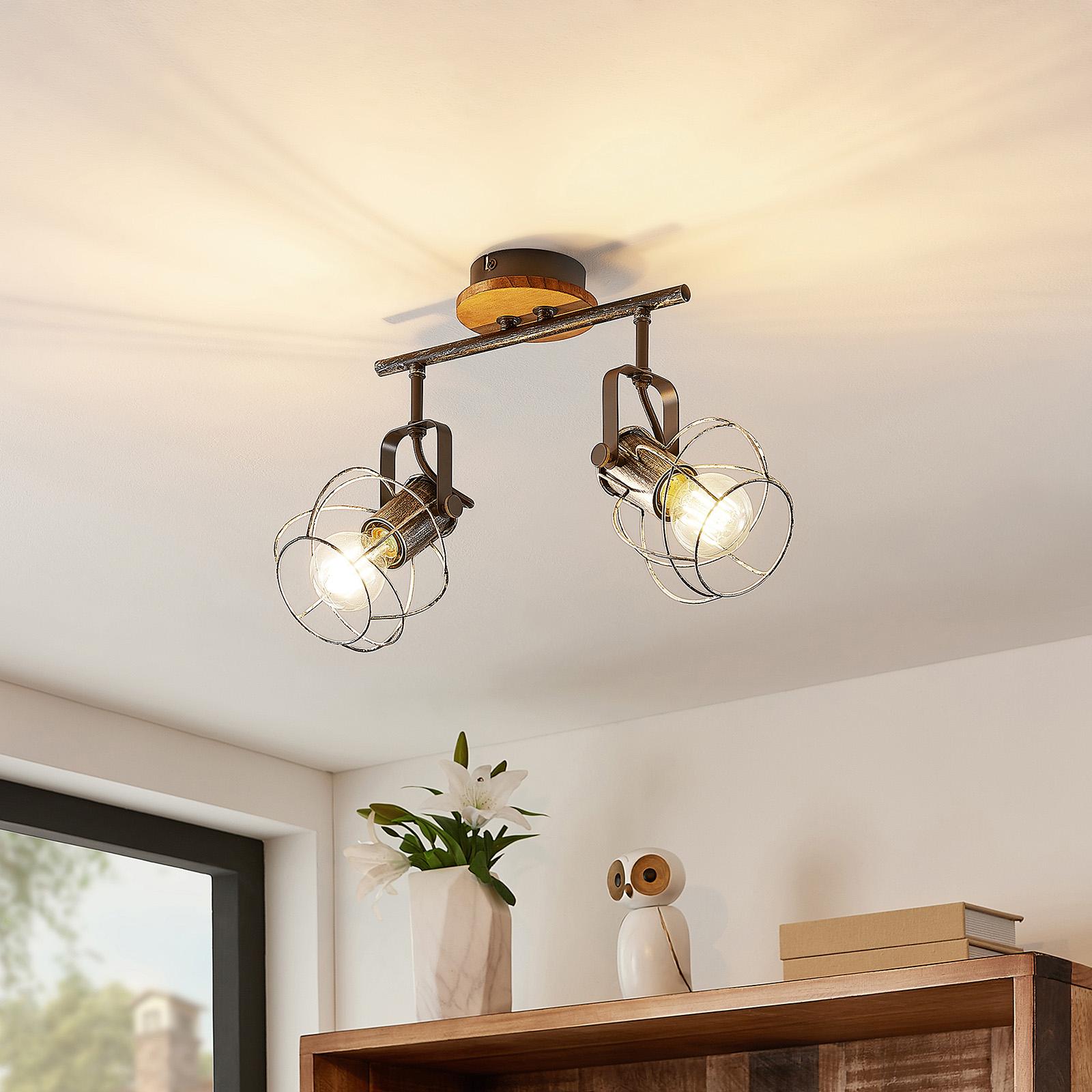 Lindby Salima -kattokohdevalaisin, 2-lamppuinen
