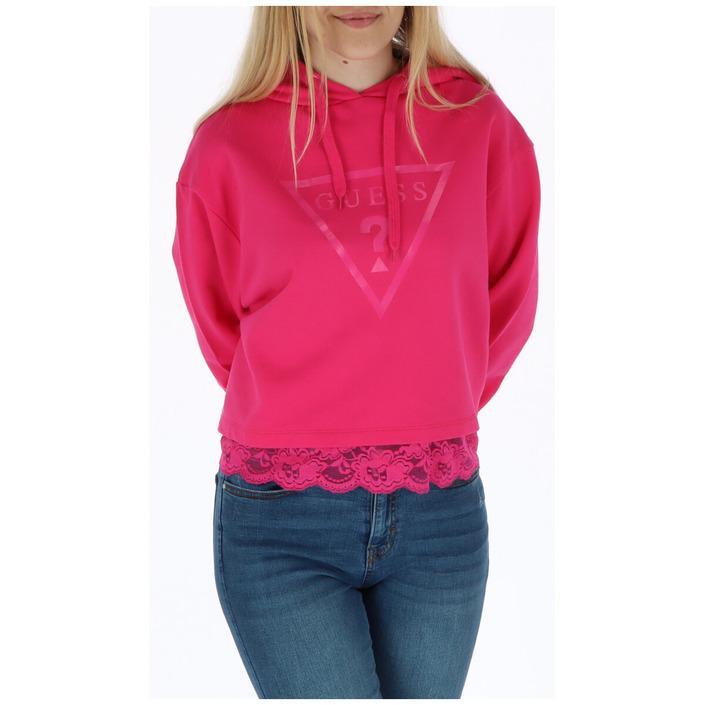 Guess Women's Sweatshirt Fuchsia 258503 - fuchsia XS