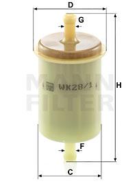 Polttoainesuodatin MANN-FILTER WK 28/1