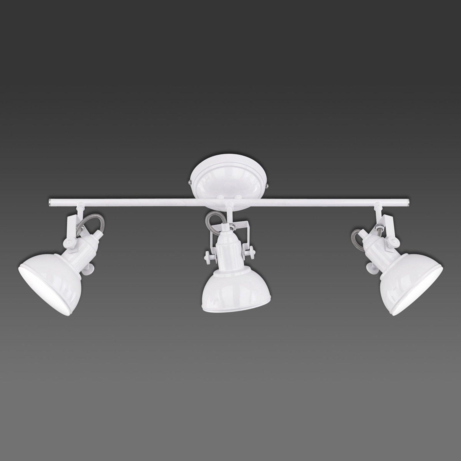 Taklampe Gina, 3 lyskilder, hvit