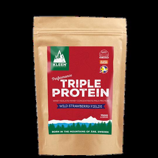 KLEEN Triple Protein Wild Strawberry Fields, 750 g