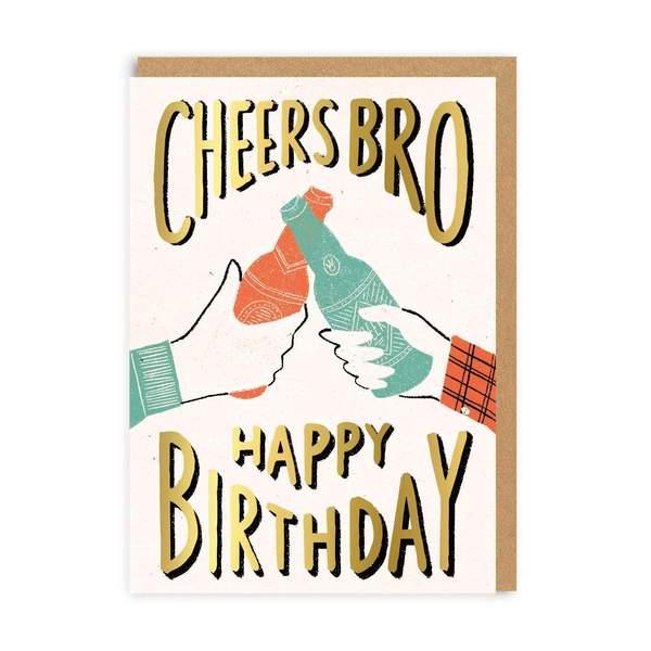 Cheers Bro Birthday Greeting Card