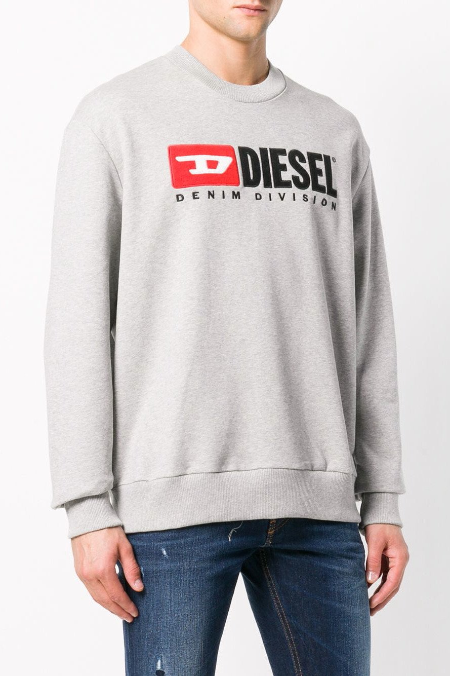 Diesel Men's Sweatshirt Various Colours 294149 - grey M