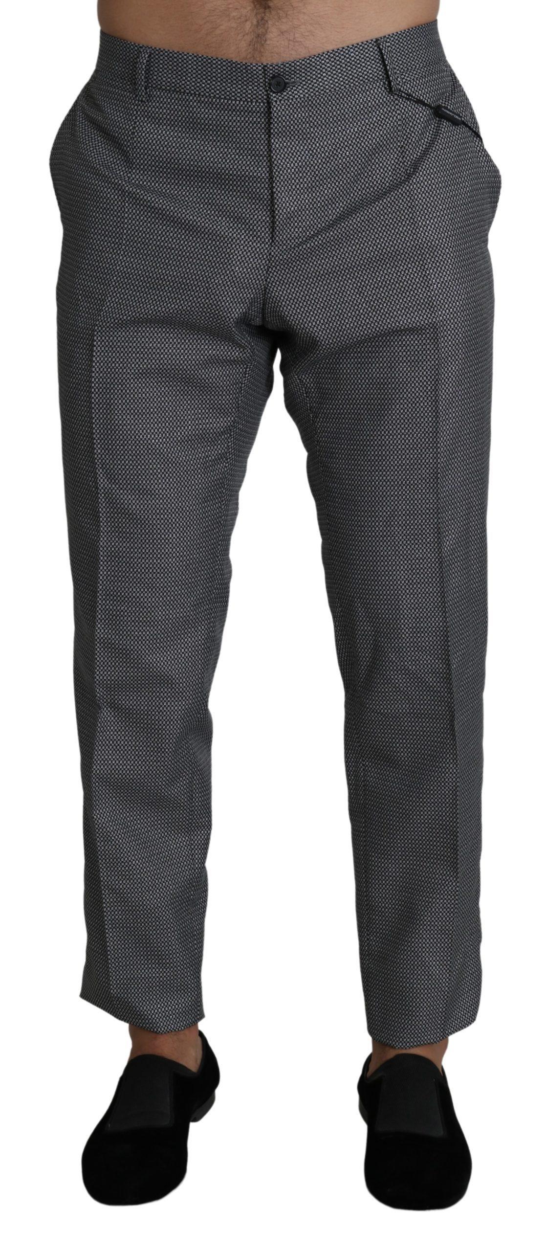 Dolce & Gabbana Men's Formal Dress Slim Fit Trouser Gray PAN71399 - IT54 | XL