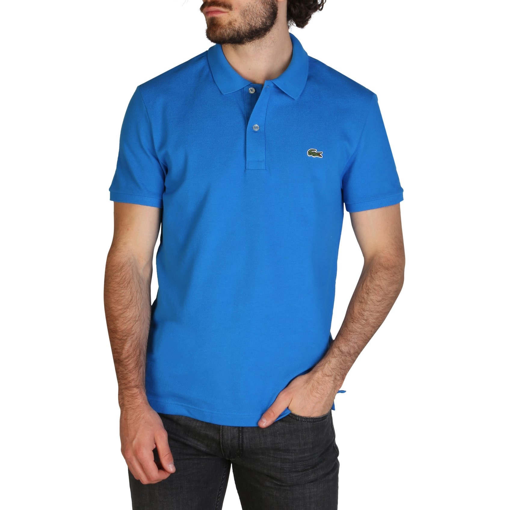 Lacoste Men's Polo Shirt Various Colours PH4012_SLIM - blue-2 S