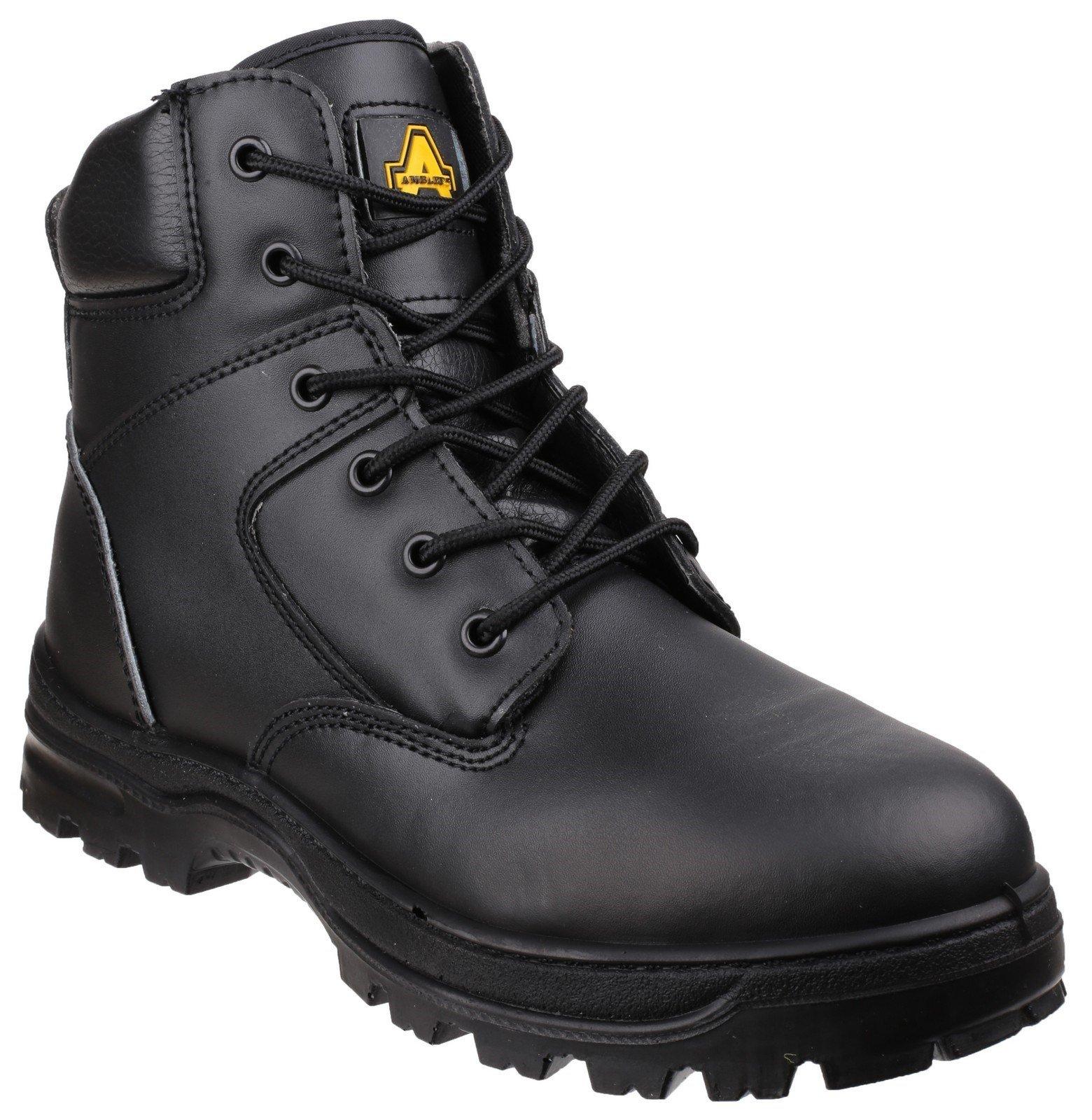 Amblers Unisex Safety Antistatic Lace up Boot Black 22387 - Black 4