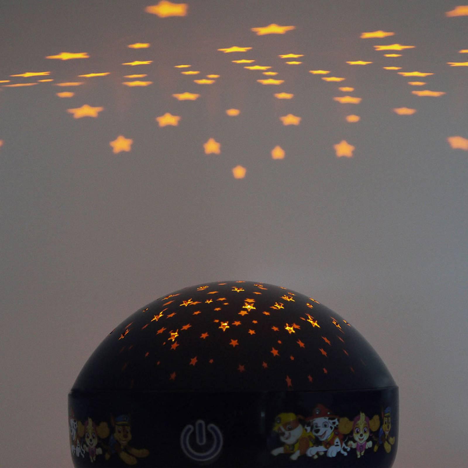 LED-projeksjons-nattlampe Paw Patrol, blå