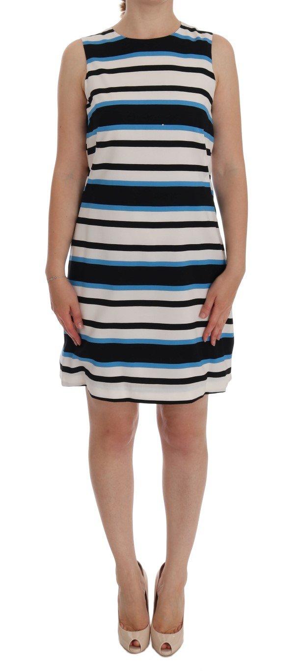Dolce & Gabbana Women's Striped Silk Stretch Shift Dress Multicolor DR1156 - IT38|XS