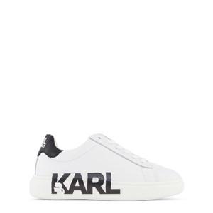 Karl Lagerfeld Kids Branded Leather Sneakers Vita 32 (UK 13)