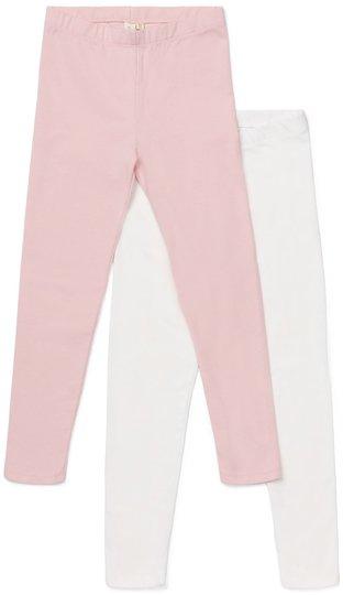 Petite Chérie Atelier Arielle Leggings 2-pack, Pink/White 110-116