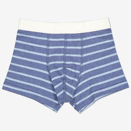 Stripet boksershorts blå