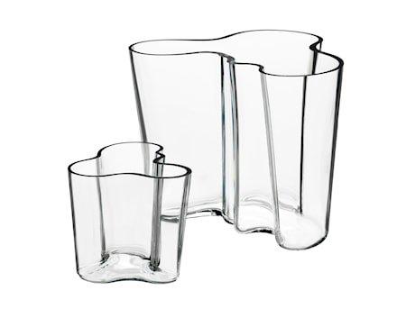 Aalto Vase Gavesett 95 mm+160 mm klar