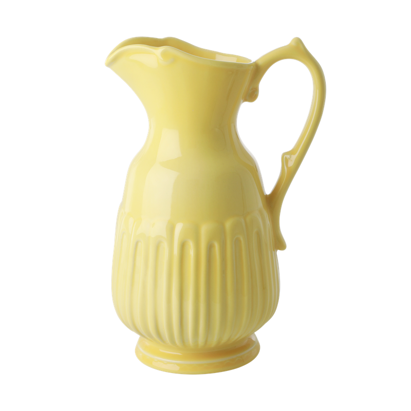 Rice - Ceramic Jug - Bright Yellow