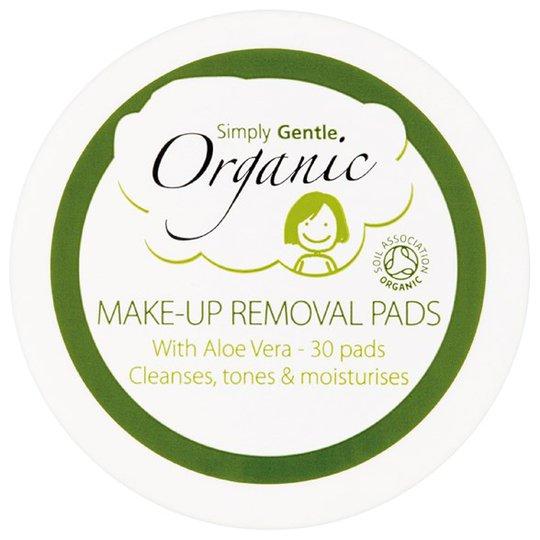 Simply Gentle Organic Ekologiska Rengöringspads för ansiktet, 30 st