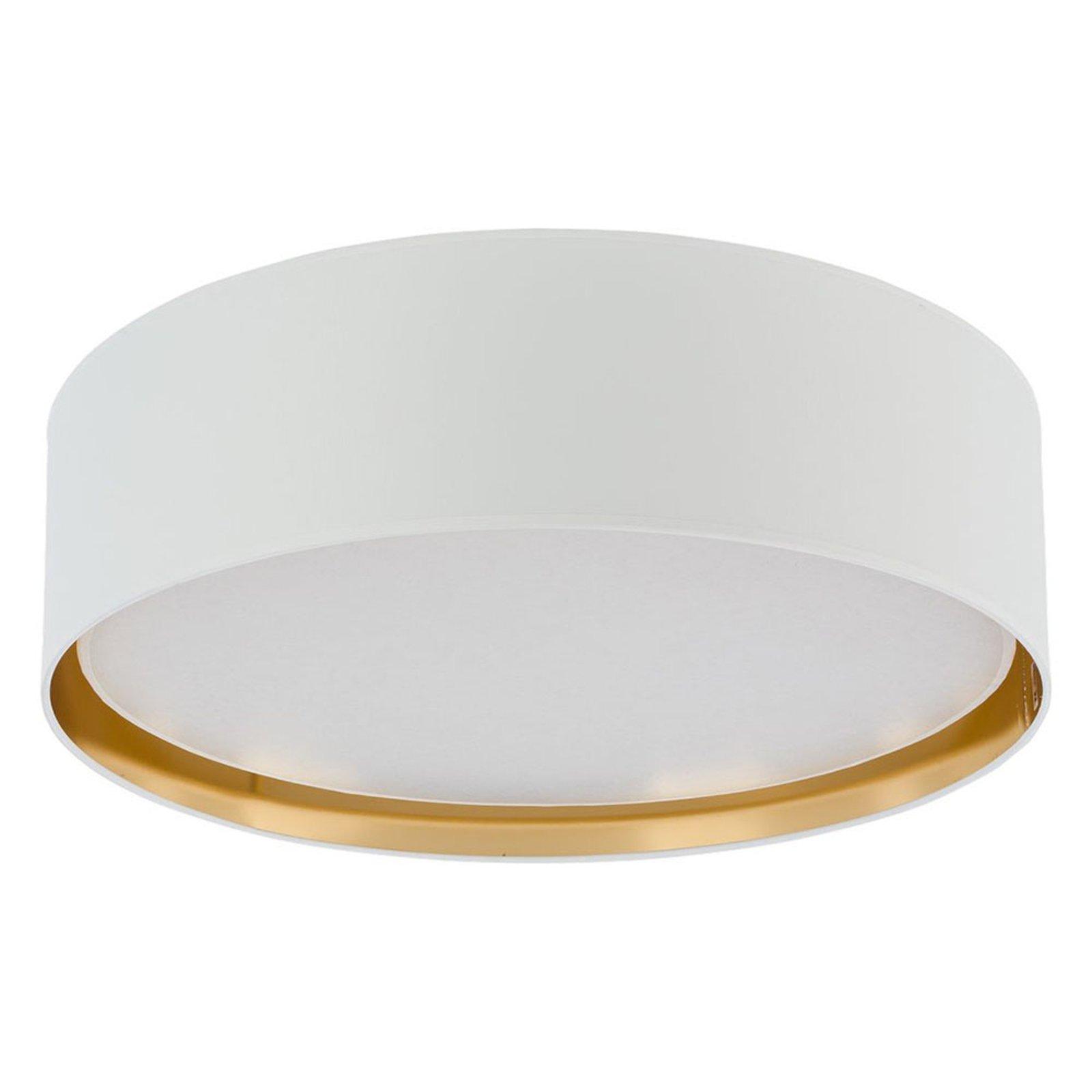 Taklampe Bilbao, Ø 60 cm, hvit/gull