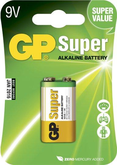 GP Batterier Super Alkaline 9V 6LF22 2-pack