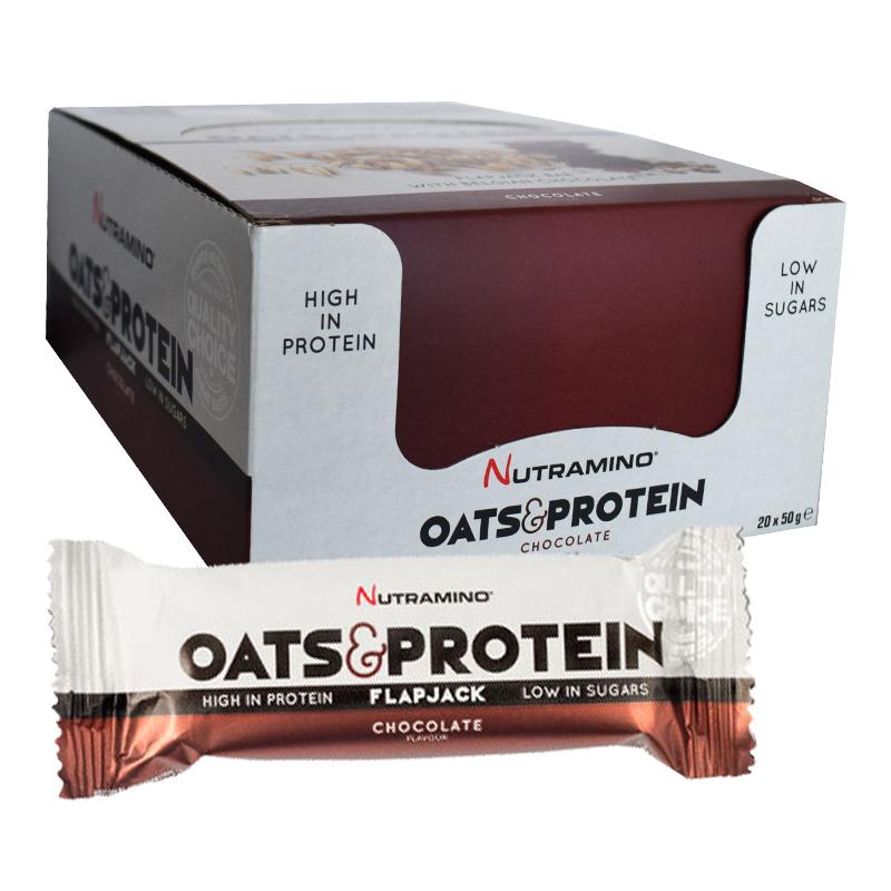 """Hel Låda Proteinbars """"Flapjack Chocolate"""" 20 x 50g - 79% rabatt"""