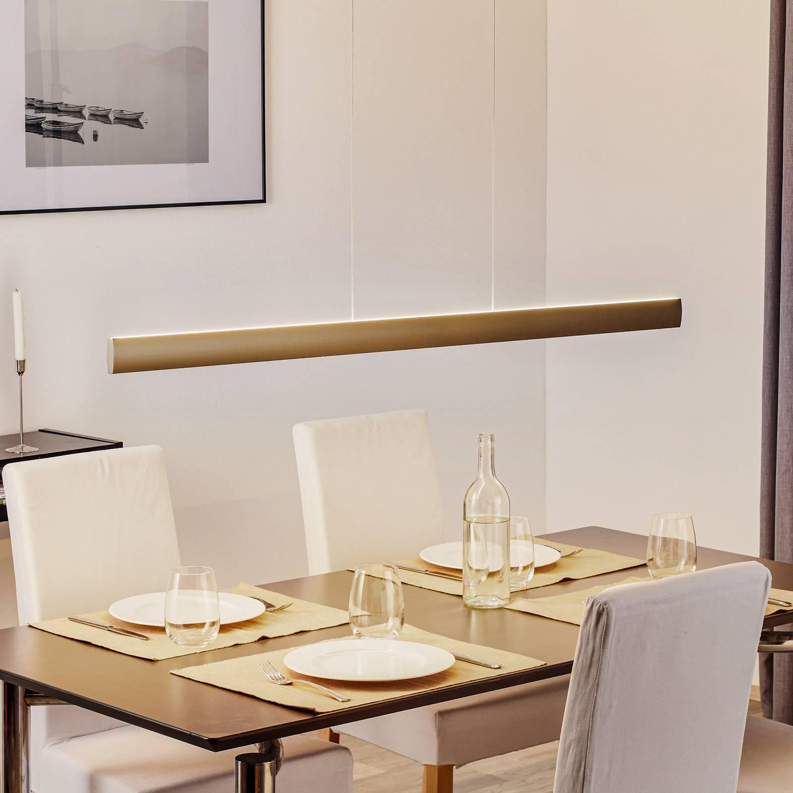 LED-riippuvalaisin Runa, pronssi, pituus 132 cm