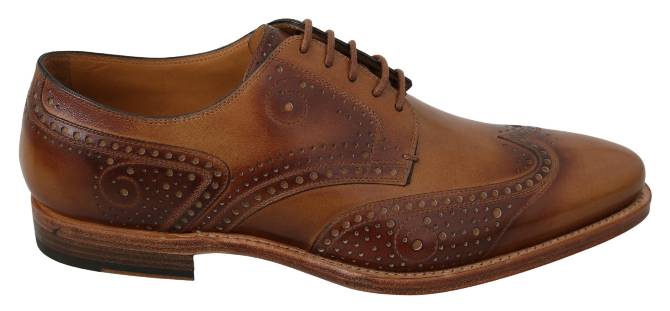 Dolce & Gabbana Men's Leather Formal Brogue Shoe Brown MV2881 - EU42/US9