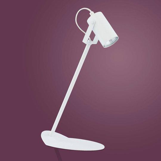 Redo bordlampe av metall, hvit